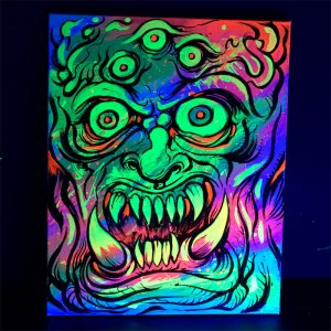 Colorful acrylic blacklight pain