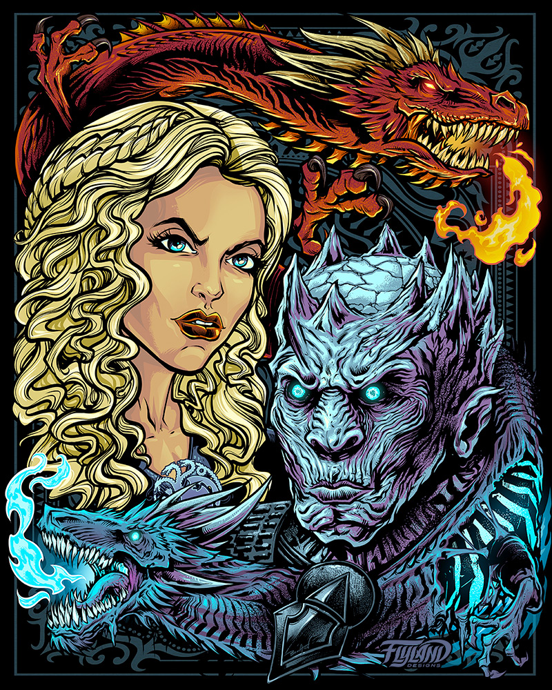 Game of Thrones Bam Box Illustra