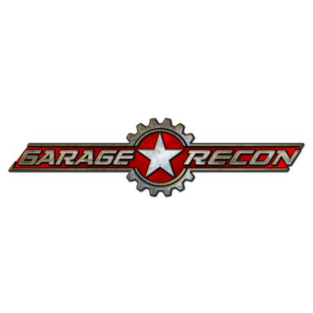 Logo design of a grungy military badge with star for mechanic website