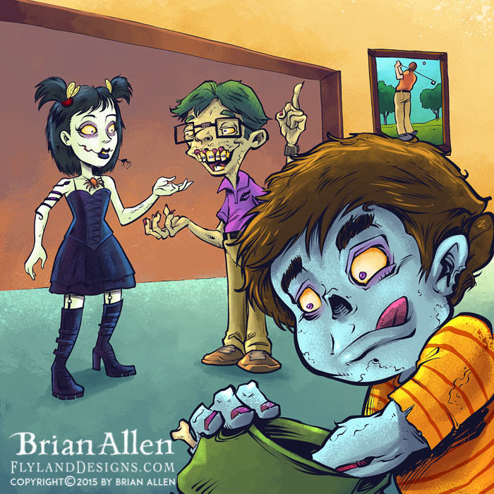 Children's book series about zombies