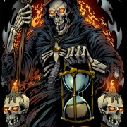 The legendary grim reaper with b