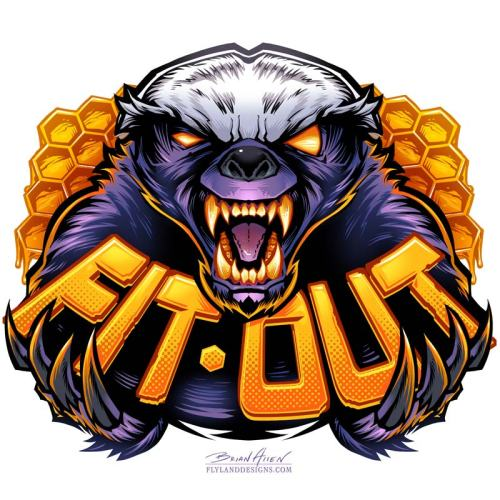 Mascot Character Design of a honey badger
