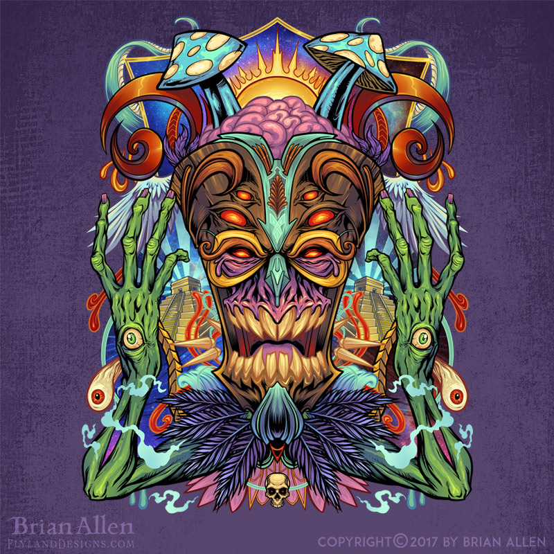 Trippy psychedelic and colorful