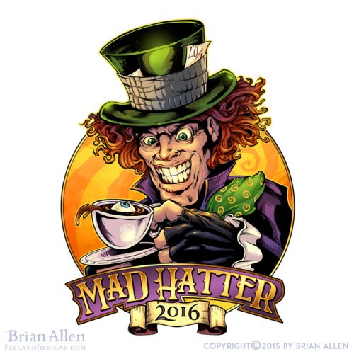 Illustration of an evil Mad Hatter