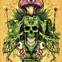 Trippy, psychedelic illustration