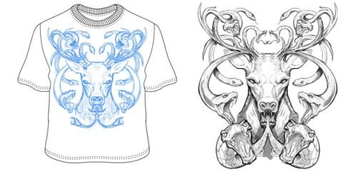 Hunter T-Shirt Sketches