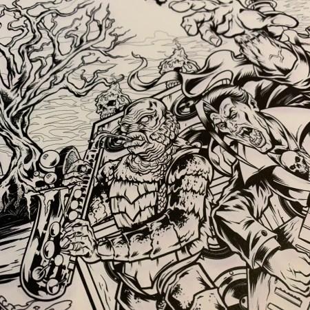 Illustration of Frankenstein, D