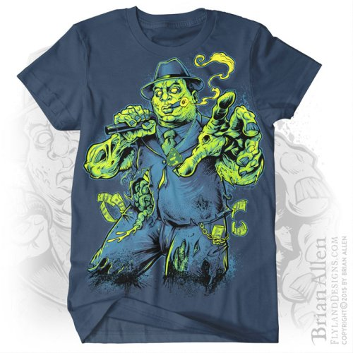 T-Shirt illustration of a zombie