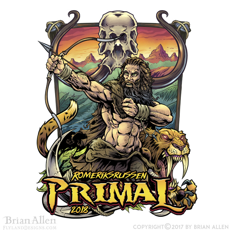 Cool illustration of a tribal pa
