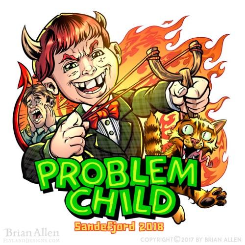 A cartoon devilish problem child