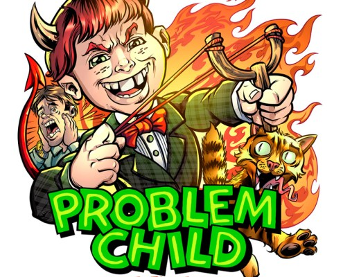 A cartoon devilish problem child