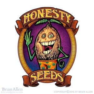 Seed mascot cartoon character fo