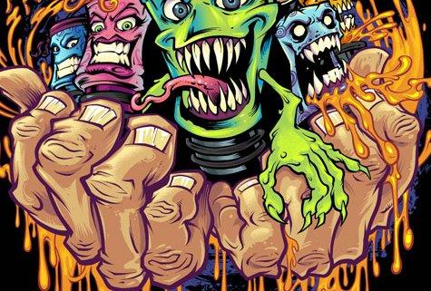 Monster creatures created of vap