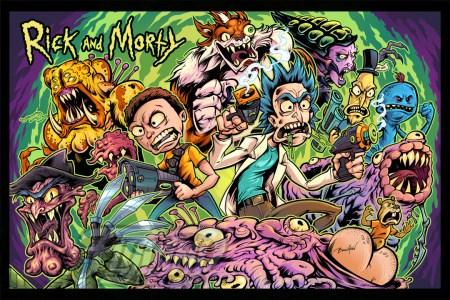 Alternate Artwork of Rick and Mo
