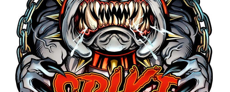 russ logo of the dog spike from