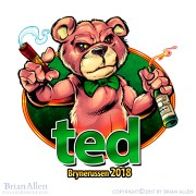 russ logo of the teddy bear from