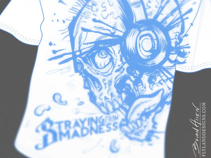 Moonshine Zombie Whiskey label illustration