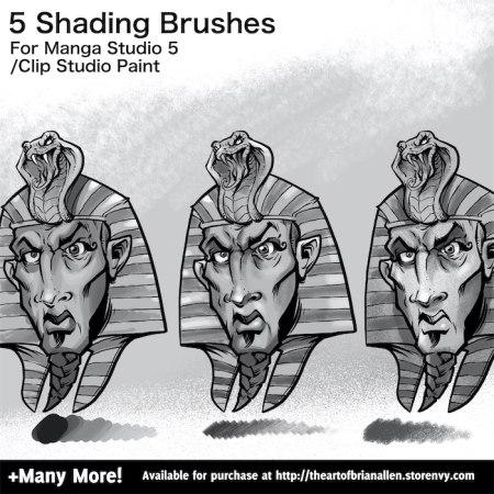 Brush Presets for custom Shading Brushes for Manga Studio 5