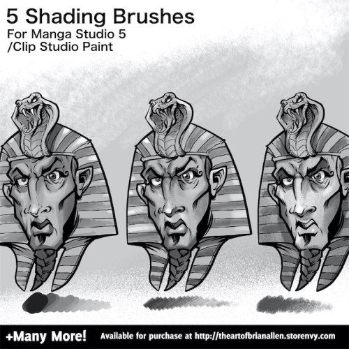 Brush Presets for custom Shading Brushes for Manga Studio 5