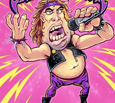 fat 80s heavy metal singer singi