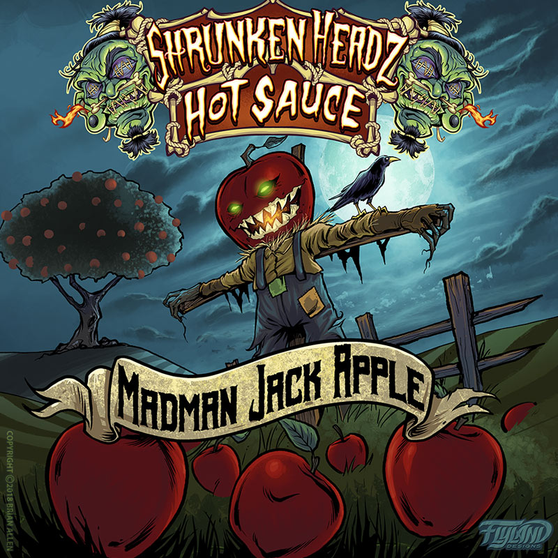 Hot Sauce Label Illustrations
