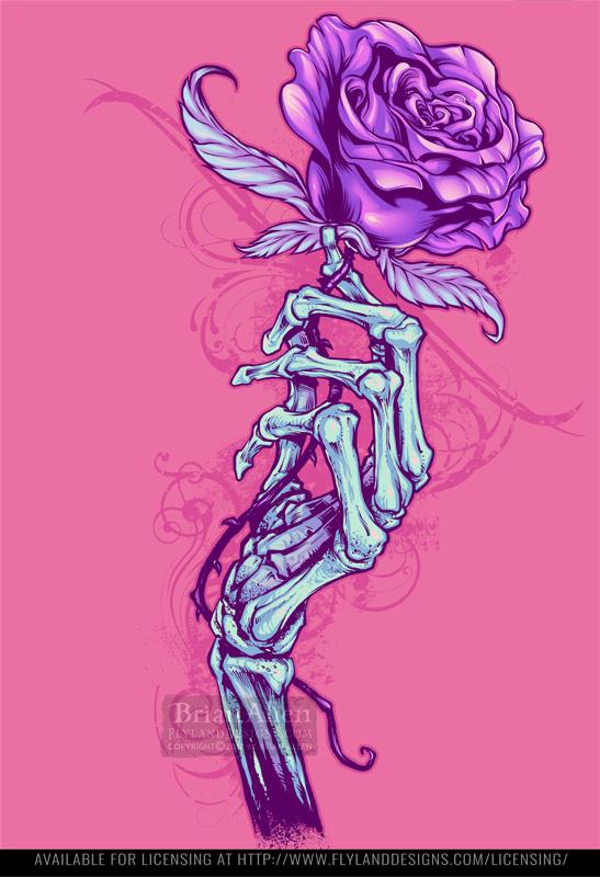 illustration of a skeletal hand