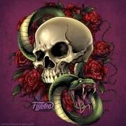 Snake Skull and Roses