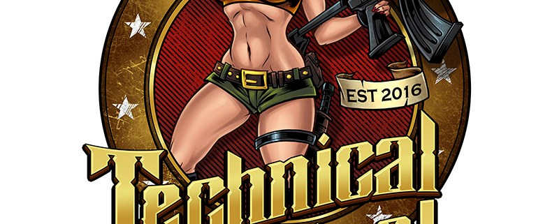 Hot army girl holding a gun in s