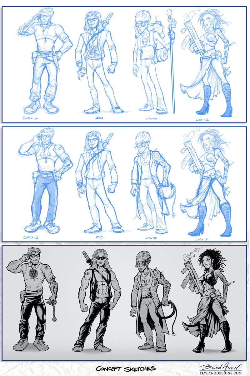 Character Designs for Stock Trading Website