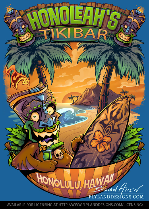 Tiki Man Beach T-shirt