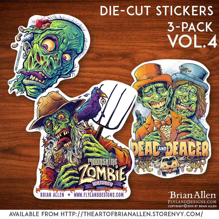 Die-cut stickers with unique original artwork illustrations