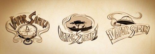 Vapor-Safari-logo-sketches