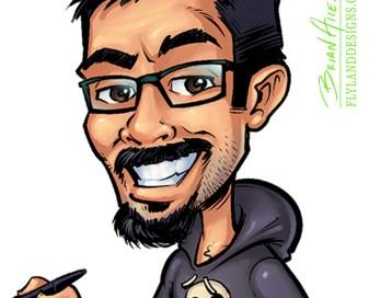 Custom caricature illustrations of doctors and team members