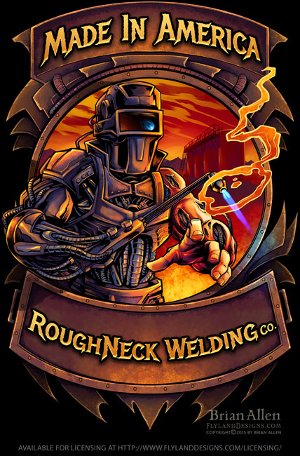Welder Cyborg T-Shirt Template