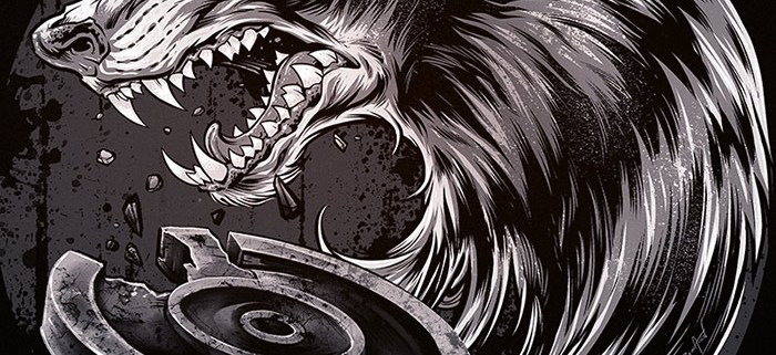 Pride of lions illustration silk