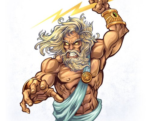 Zeus Comic Book Character design