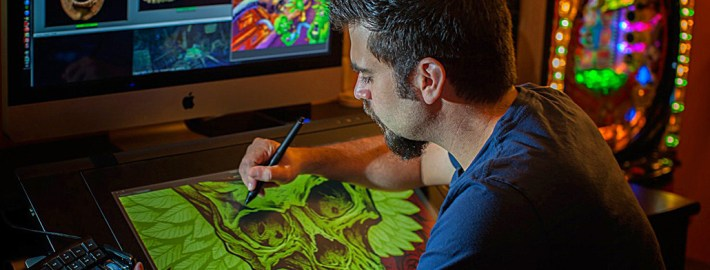 Digital artist working at Wacom Cintiq