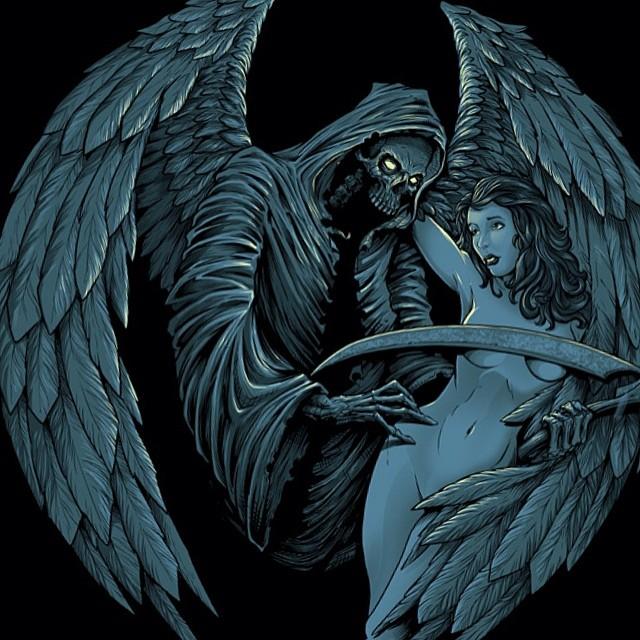 """T-shirt design I designed for FF Mafia Apparel called """"prey""""."""