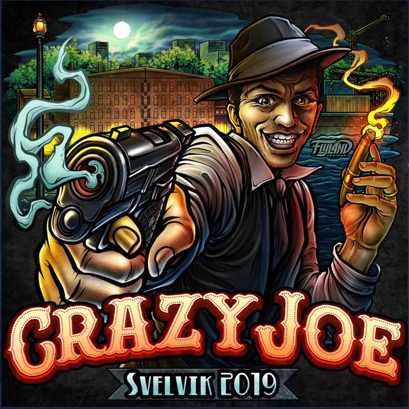 Crazy Joe logo is basied of the