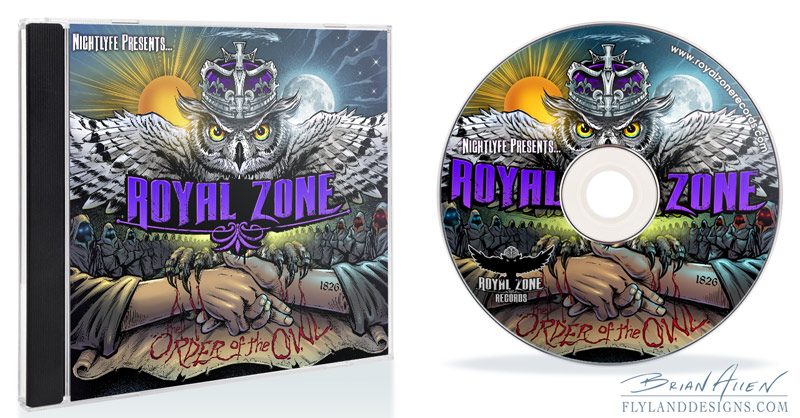 Album cover design for Royal Zone Records CD view