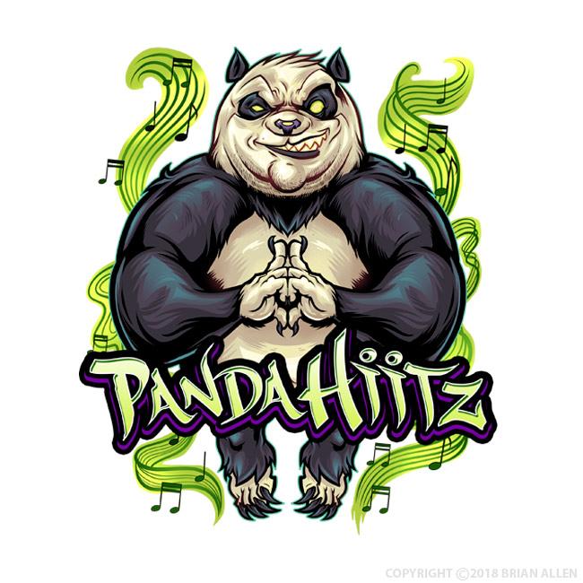 Hip-Hop Panda Mascot