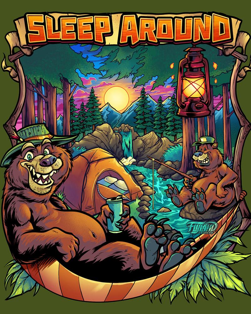 Camping Animals Designs