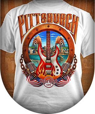 Hard Rock Cafe T-Shirt illustration by Brian Allen