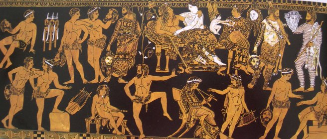 Image result for crowd on greek vase