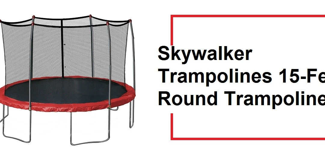 15-Feet Round Trampoline and Enclosure with Spring Pad