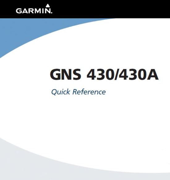 GNS430 Quick Reference Guide Front
