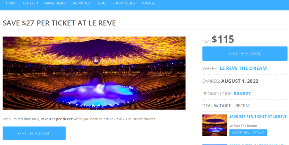 travel affiliate theme deals