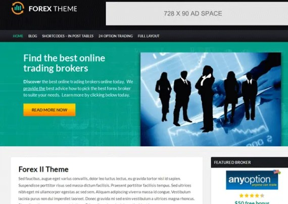 Forex WordPress Theme