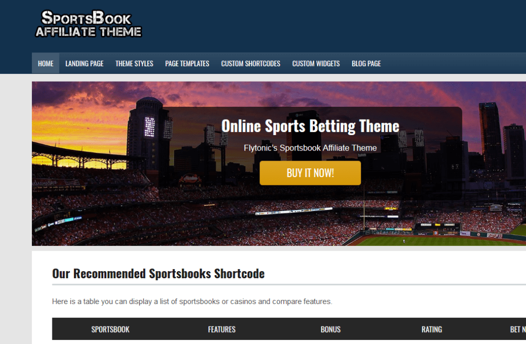 sportsbook sports betting theme