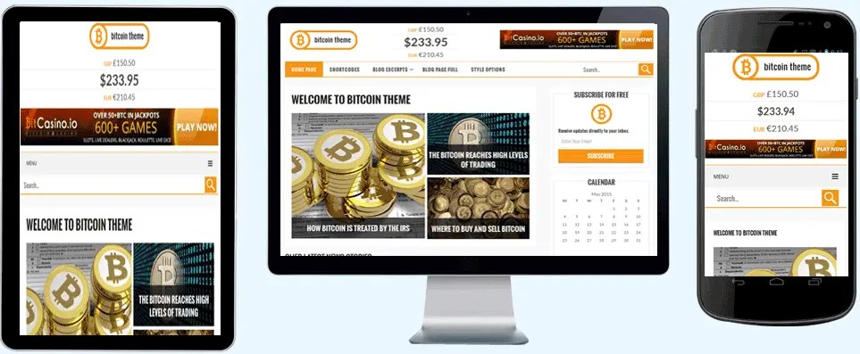 bitcoin - gambling themes